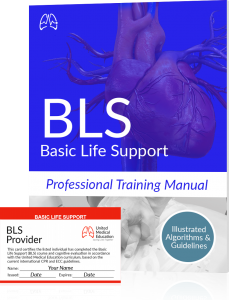BLS certification training manual and card