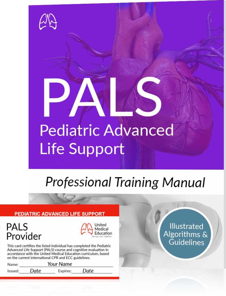 PALS certification training manual and card